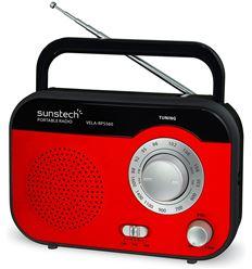RADIO PORTATIL SUNSTECH RPS560RD ROJA - RPS560RD