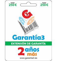 EXTENSION DE GARANTIA MAX-250 - G3PDES250