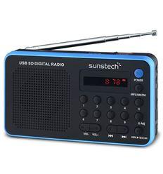 RADIO PORTATIL SUNSTECH RPDS32 BLUE - RPDS32BL