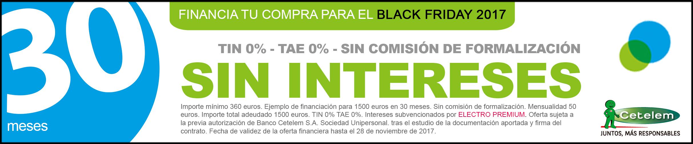 Financia las compras del Black Friday 2017